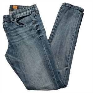 Pilcro and the Letterpress Hyphen Jeans Blue 27
